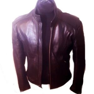 Open Road for Wilsons fitted leather jacket
